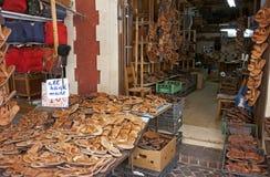 Handmade sandals stock image