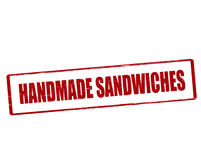 Handmade sandwiches. Rubber stamp with text handmade sandwiches inside,  illustration Royalty Free Stock Photo