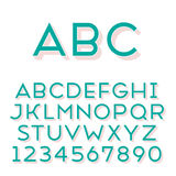 Handmade sans-serif font Royalty Free Stock Photo