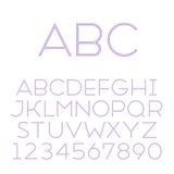 Handmade sans-serif font Stock Image