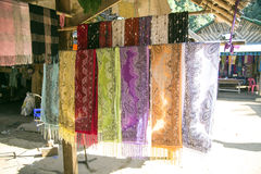 Handmade scarf by Long Neck Kayan Stock Images