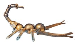 Handmade scorpion from car and motorcycle parts, bearing element Stock Images