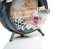 Handmade scrapbooking рамка фото Стоковое Изображение