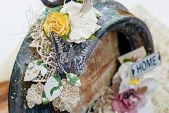 Handmade scrapbooking photo frame Stock Image