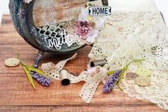 Handmade scrapbooking photo frame Royalty Free Stock Image