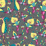 Handmade seamless  floral   pattern Royalty Free Stock Images