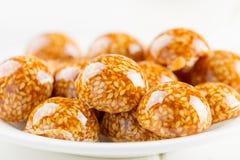 Handmade sesame candy in sugar caramel Stock Photo