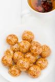 Handmade sesame candy in sugar caramel Stock Photography