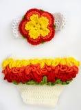Handmade set for baby girl Stock Image