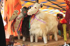 Sheep goat dolls at a Mexican craft market Stock Photo