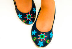 A HANDMADE SHOES Royalty Free Stock Images