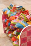 Handmade of shoes put on the shelves Stock Image