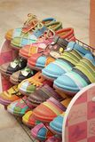 Handmade of shoes put on the shelves Stock Photography