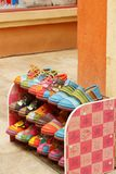 Handmade of shoes put on the shelves Royalty Free Stock Image