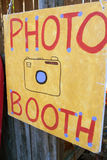 Handmade Sign Directs Carnival Patrons To Photo Booth Royalty Free Stock Images