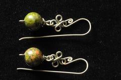 Handmade Silver Jewelry Stock Image