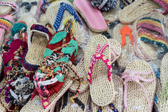 Handmade slippers Royalty Free Stock Images