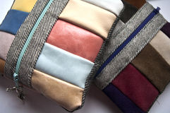 Handmade Small Leather Purse Royalty Free Stock Photos