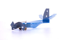 Handmade small plane Royalty Free Stock Images