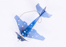 Handmade small plane Royalty Free Stock Image