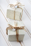 Handmade small present boxes Royalty Free Stock Image