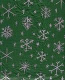 Handmade Snowflake Wrapping-Paper. Handmade silver snowflake wrapping paper Royalty Free Stock Photography