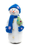 Handmade Snowman over white Stock Photography