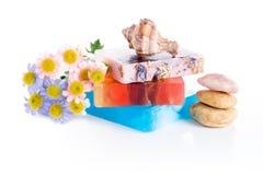 Handmade soap. And zen stones Royalty Free Stock Image