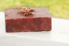 Handmade Soap. Handmade herbal soap bar royalty free stock photography