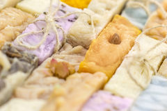 Handmade soap background Royalty Free Stock Photography
