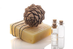 Handmade soap bar Royalty Free Stock Image