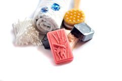 Handmade soap bars Stock Photography