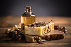 Handmade soap bars Stock Photography