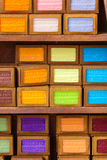 Handmade soap in a beauty shop in Provence France Royalty Free Stock Images