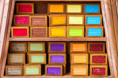 Handmade soap in a beauty shop in Provence France Stock Photography