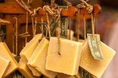 Handmade soap in a beauty shop in Provence France Royalty Free Stock Image