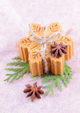 Handmade soap with cinnamon and anise star Stock Photos