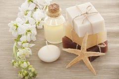 Handmade Soap closeup stock images