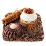 Handmade soap with coffee, chocolate and cinnamon Stock Photography