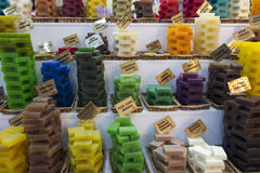 Handmade soap displayed at Grasse Stock Photography