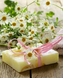 Handmade soap with flowers Stock Images