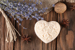 Handmade soap in the form of heart Stock Photo