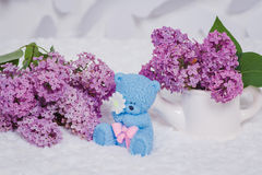 Handmade soap formed like teddy bears Royalty Free Stock Images