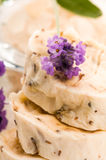 Handmade Soap With Fresh Lavender Flowers Royalty Free Stock Photos