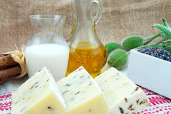 Handmade Soap In Retro Style Stock Photos