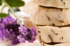 Handmade Soap With Lavender Flowers Royalty Free Stock Photos