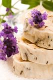Handmade Soap With Lavender Flowers Royalty Free Stock Images