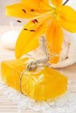 Handmade soap, lily, Royalty Free Stock Photo
