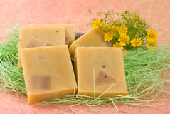 Handmade Soap with little flower Royalty Free Stock Photos