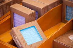 Handmade soap on local market in provence, france Royalty Free Stock Image